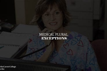 Medical Plural Exceptions