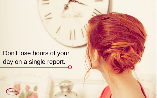 Save time in report writing
