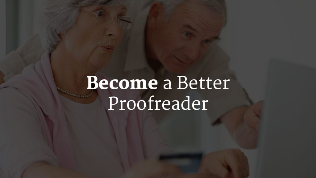 how to become a better proofreader