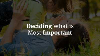 How do I Decide What is Most Important?