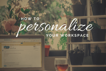 personalize workspace
