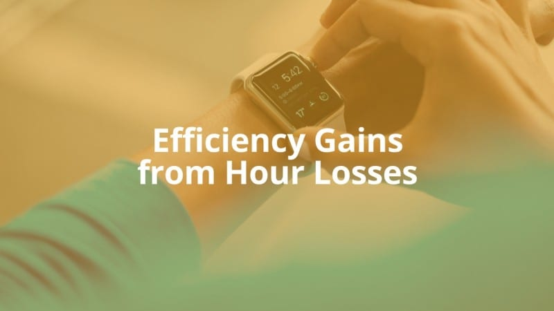 Efficiency Gains from Hour Losses