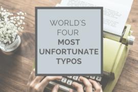 World's four most unfortunate typos