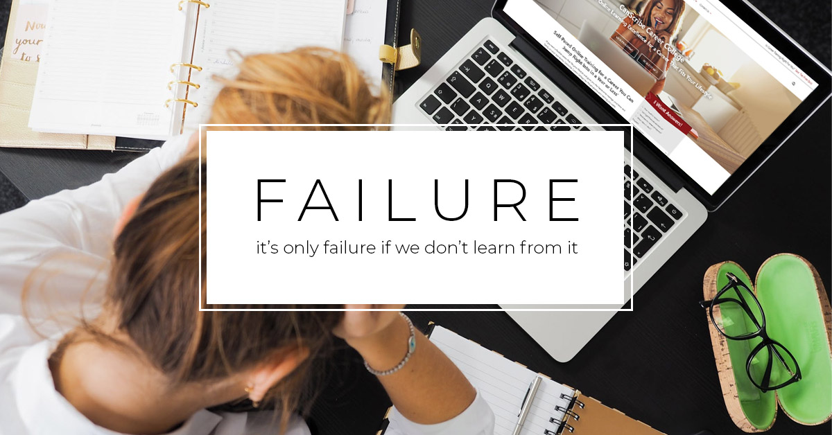Failure and Self-Improvement | CanScribe Career College